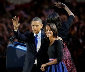 President Obama gets more grey hairs as Malia turns 15