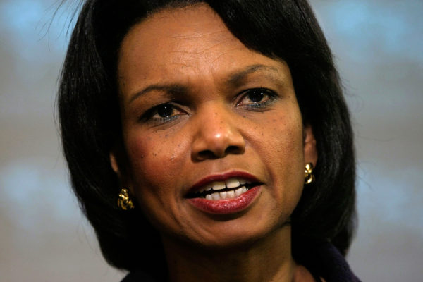 Condoleezza Rice Holds Briefing On Bush AIDS Relief Plan