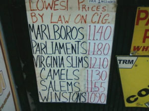 cigarette prices