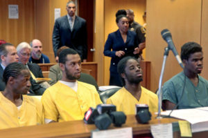Four of the young men accused in the beating of Steve Utash appeared in court in Detroit on Monday.