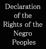 Declaration of the Rights of the Negro Peoples