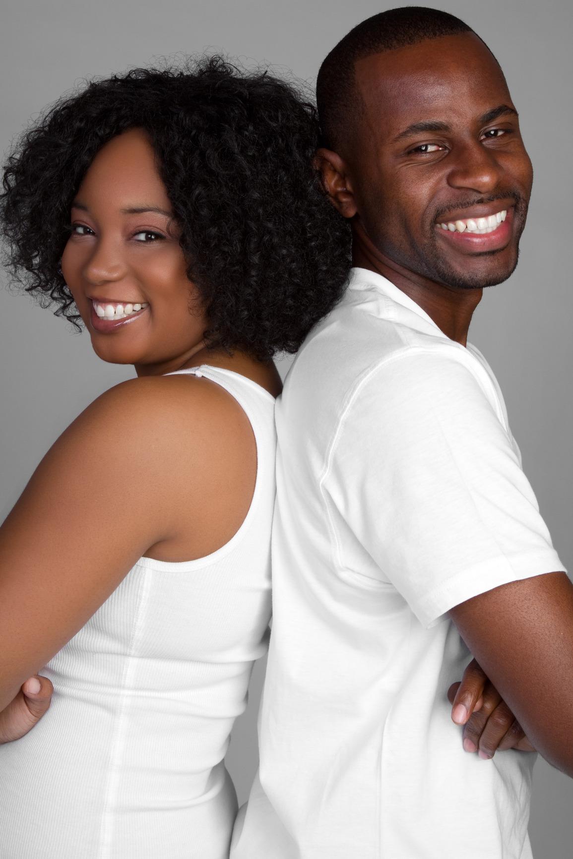Free black couple