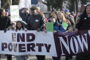 anti-poverty demo