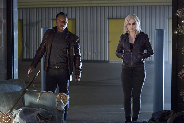 "iZombie -- ""Dead Rat, Live Rat, Brown Rat, White Rat"" -- Image Number: ZMB112A_0396 -- Pictured (L-R): Malcolm Goodwin as Clive Babineaux and Rose McIver as Olivia ""Liv"" Moore -- Photo: Liane Hentscher/The CW -- © 2015 The CW Network, LLC. All rights reserved."