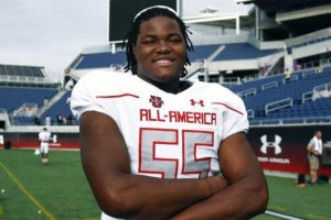 Rashan Gary, top football recruit of the class of 2016. Photo courtesy of Twitter.