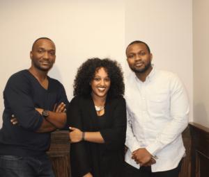 Founders John Eke, Meron Berhe and Richard Kyereboah Jr. Image via Bantuapp.com