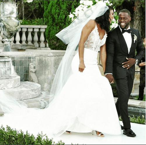 Bride Eniko Parrish with groom Kevin Hart (Instagram)