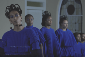 "Solange in the ""Don't Touch my Hair"" music video (Columbia Records screenshot)"