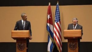 Obama and Raul Castro at their press conference in Havana on March 21, 2016. Photo: telesurtv.net