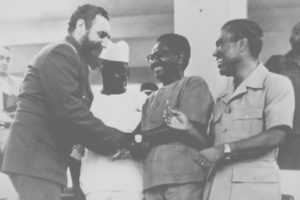 Fidel Castro with Angolan revolutionary leaders