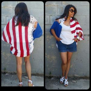 American Flag Kimono by Black Pearl (1)