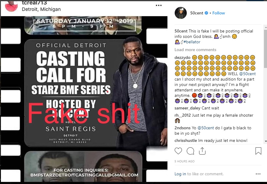 50 Cent Warns Fans About Fake BMF Casting Call