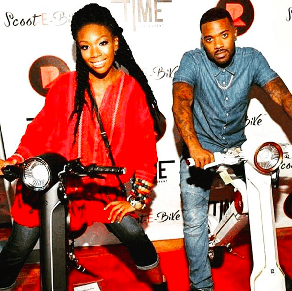 Ray J and Brandy Norwood