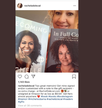 Rachel Dolezal Is Appropriately Dragged After Comparing Her Memoir to Michelle Obama's