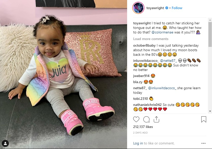 Toya Wright asked Reginae Carter if she taught baby Reign a bad habit.