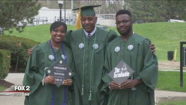 Father, Son and Daughter Graduate