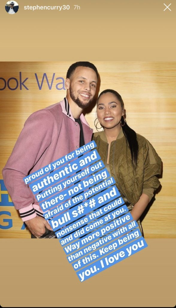 14ff0774f8db Days after the backlash over Ayesha Curry s feelings about groupies emerged  earlier this week