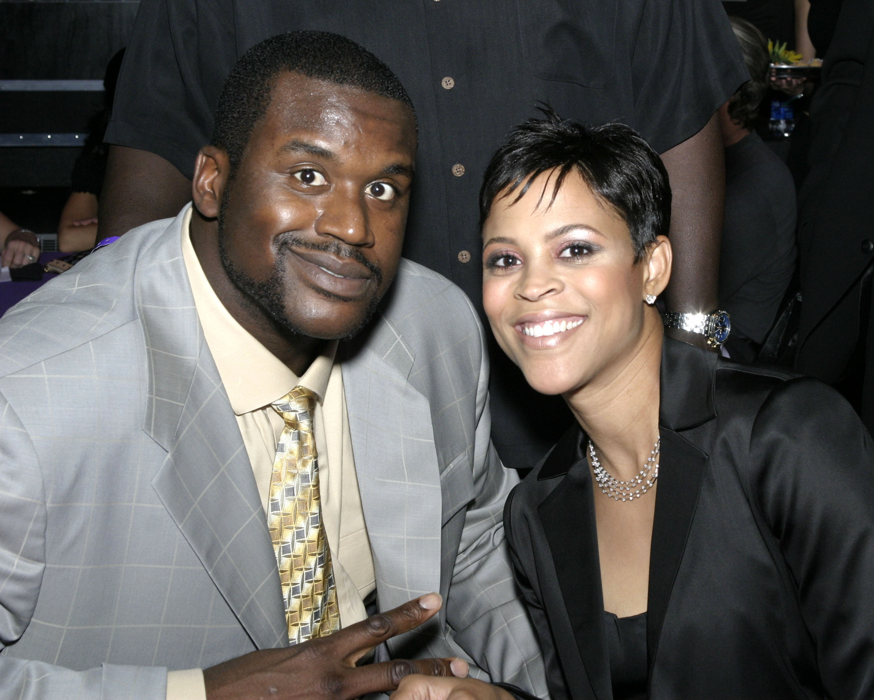 Image result for shaquille o'neal shaunie wedding""
