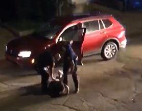 Cop hits man with gun