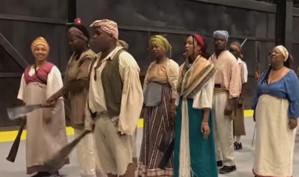 Slave Rebellion Reenactment
