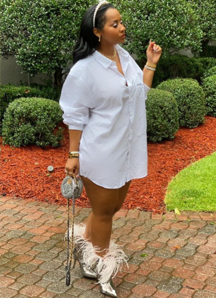 Waka Flocka Flame Shows Love In Wife Tammy Rivera's Comments as She Shows Off Her Thighs